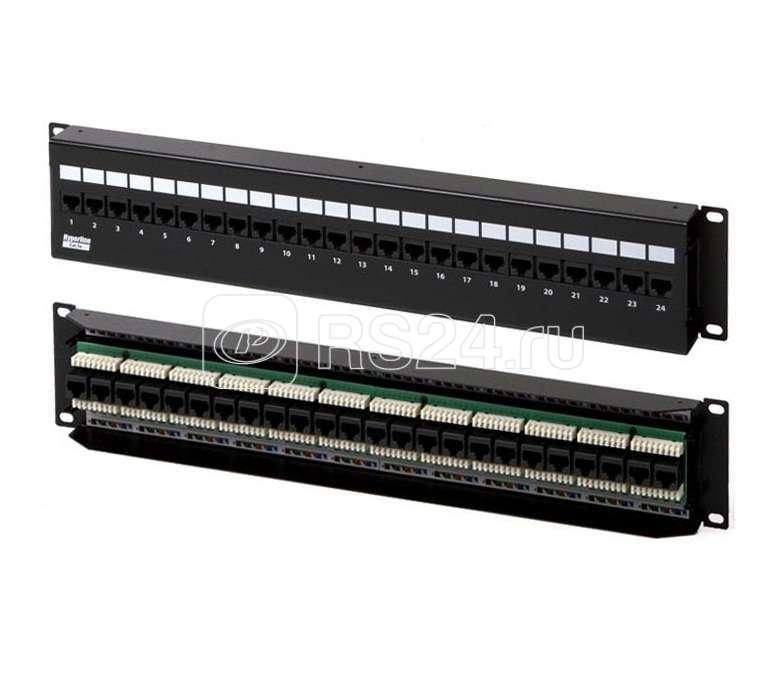 Патч-панель PPW-24-8P8C-C5e-FR настен. c перед. монтаж. 24 порта RJ45(8P8C) категория 5e Hyperline 17710