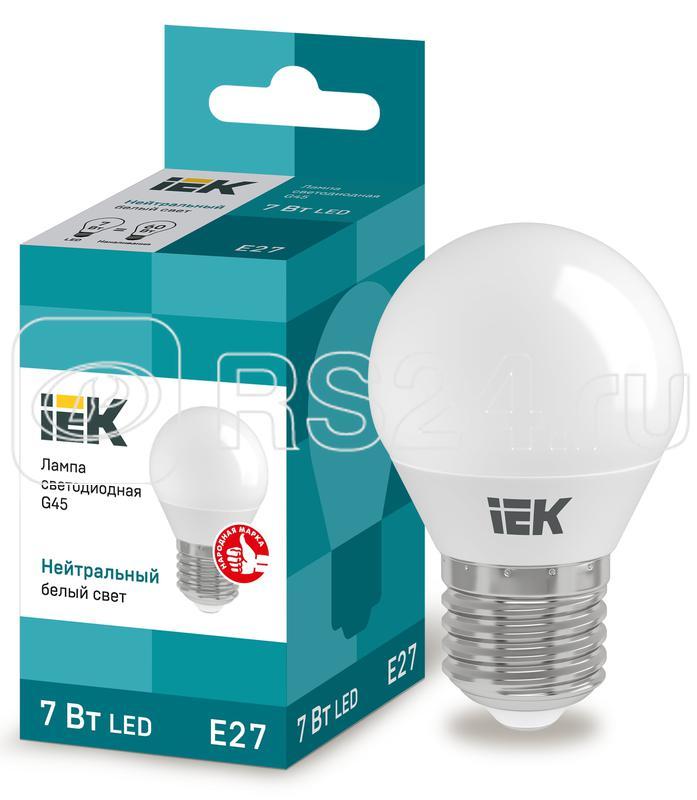 Лампа светодиодная ECO G45 9Вт шар 4000К E27 230В ИЭК LLE-G45-9-230-40-E27 купить в интернет-магазине RS24