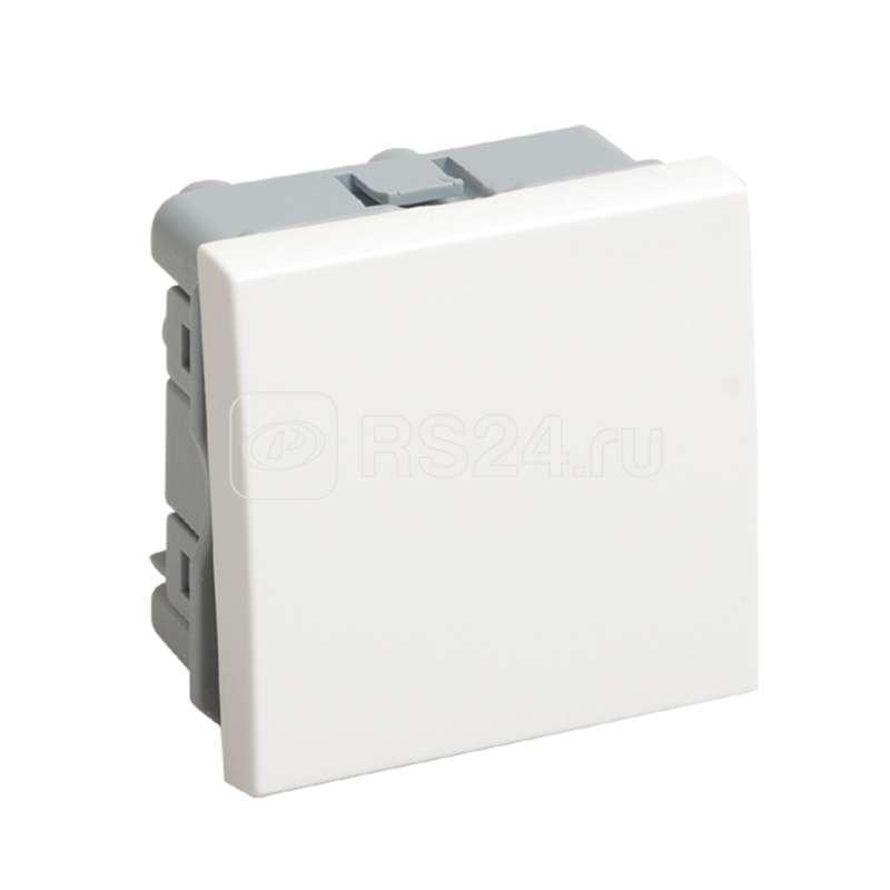 Выключатель 1-кл. 2мод. СП 10А IP20 ВКО-21-00-П бел. ИЭК CKK-40D-VO2-K01
