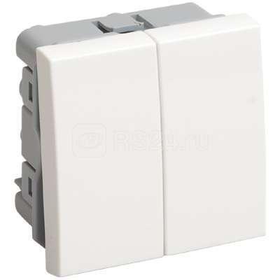 Выключатель 2-кл. 2мод. СП 10А IP20 ВК1-22-00-П бел. ИЭК CKK-40D-VD2-K01
