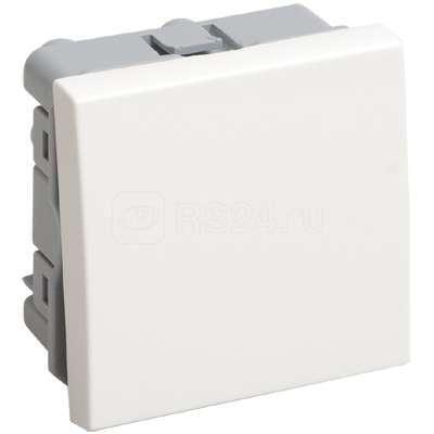 Выключатель проходной 1-кл. 2мод. СП 10А IP20 ВК4-21-00-П бел. ИЭК CKK-40D-PO2-K01