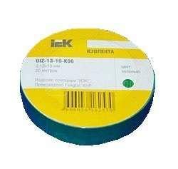 Изолента ПВХ 0.18х19мм зел. (рул.20м) ИЭК UIZ-20-10-K06 купить в интернет-магазине RS24