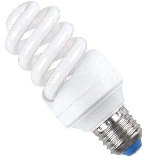 Лампа люминесцентная компакт. КЭЛP-FS 20Вт E27 спиральная 4000К (уп.3шт) ИЭК LLEP25-27-020-4000-T3-S3 купить в интернет-магазине RS24