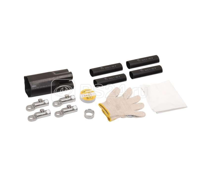 Комплект муфты концевой ПКВтп внутренней установки 4х150/240 с болтовыми наконечниками ПВХ/СПЭ изоляция 1кВ ИЭК UZM-XLK1-VN4-150240S