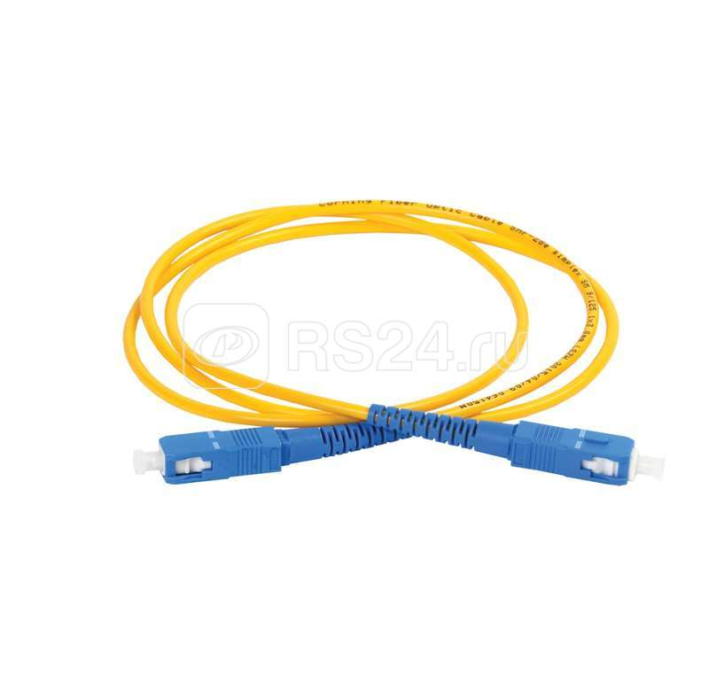 Патч-корд оптический коммутационный соединительный для одномодового кабеля (SM); 9/125 (OS2); SC/UPC-SC/UPC (Simplex) (дл.25м) ITK FPC09-SCU-SCU-C1L-25M купить в интернет-магазине RS24