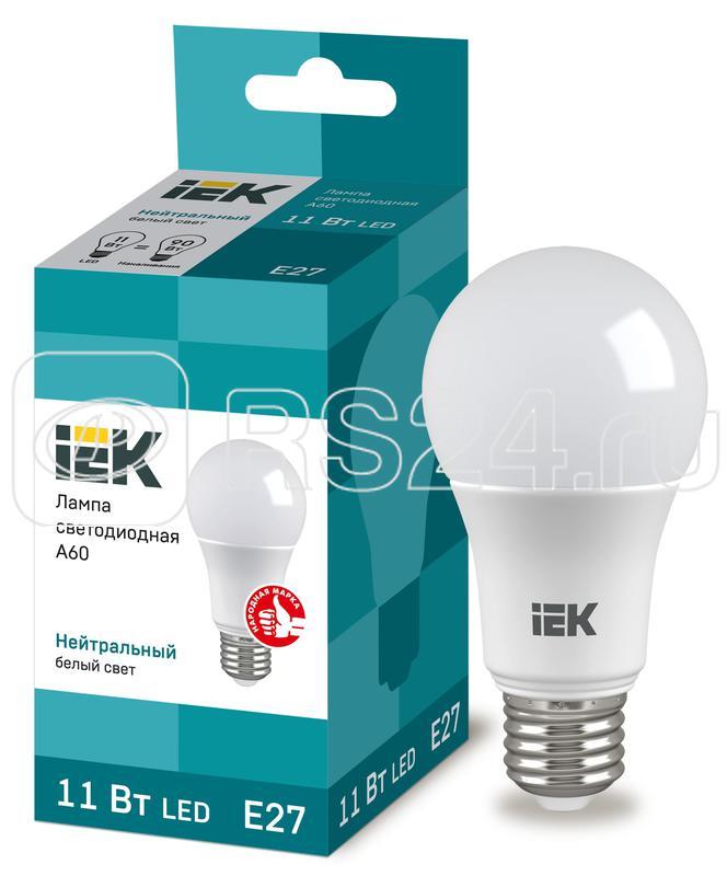 Лампа светодиодная ECO A60 11Вт грушевидная 4000К бел. E27 990лм 230-240В ИЭК LLE-A60-11-230-40-E27