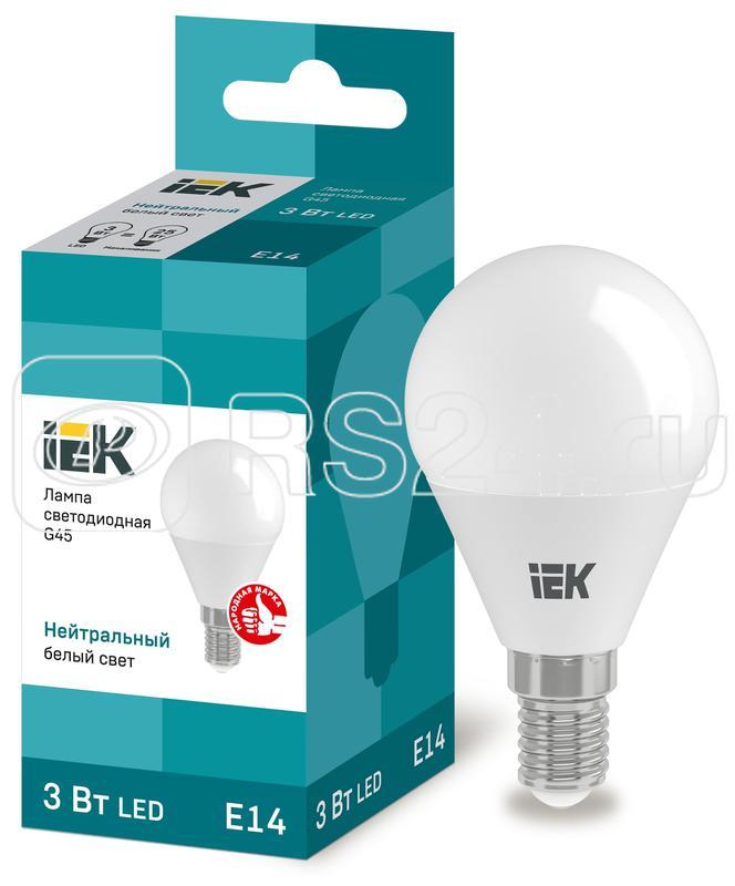 Лампа светодиодная ECO G45 5Вт шар 4000К бел. E27 450лм 230-240В ИЭК LLE-G45-5-230-40-E27