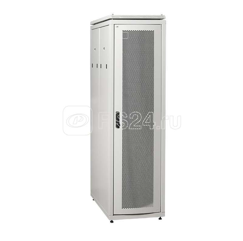 Шкаф сетевой 19дюйм  LINEA N 42U 600х1000мм с L-профилями перфорированные двери сер. ITK LN35-42U61-PP-L купить в интернет-магазине RS24