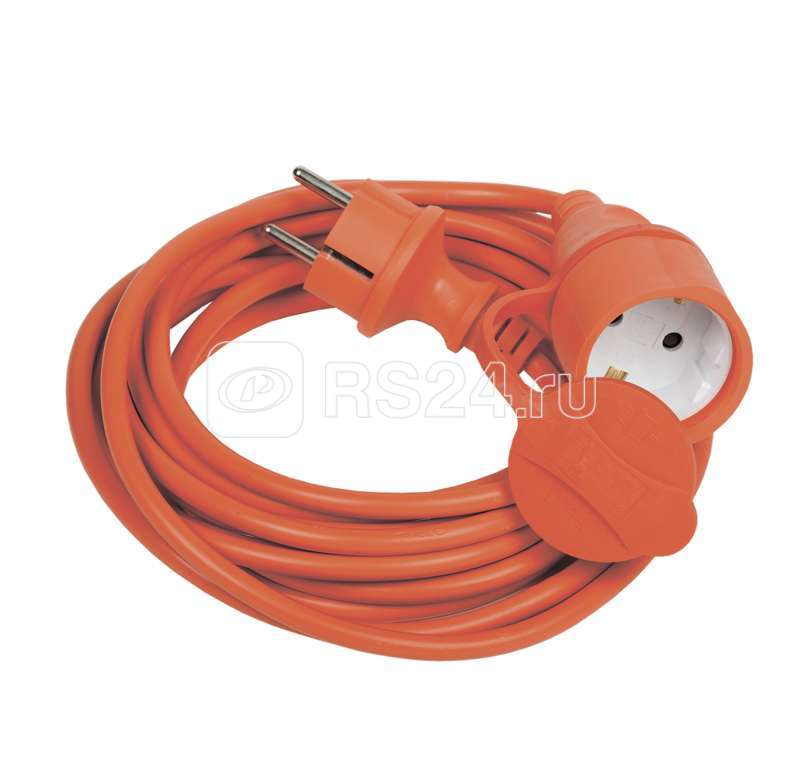 Удлинитель-шнур УШ-01РВ 5м вилка+розетка 2Р+РЕ 3х1 оранж. ИЭК WUP10-05-K09-44 купить в интернет-магазине RS24