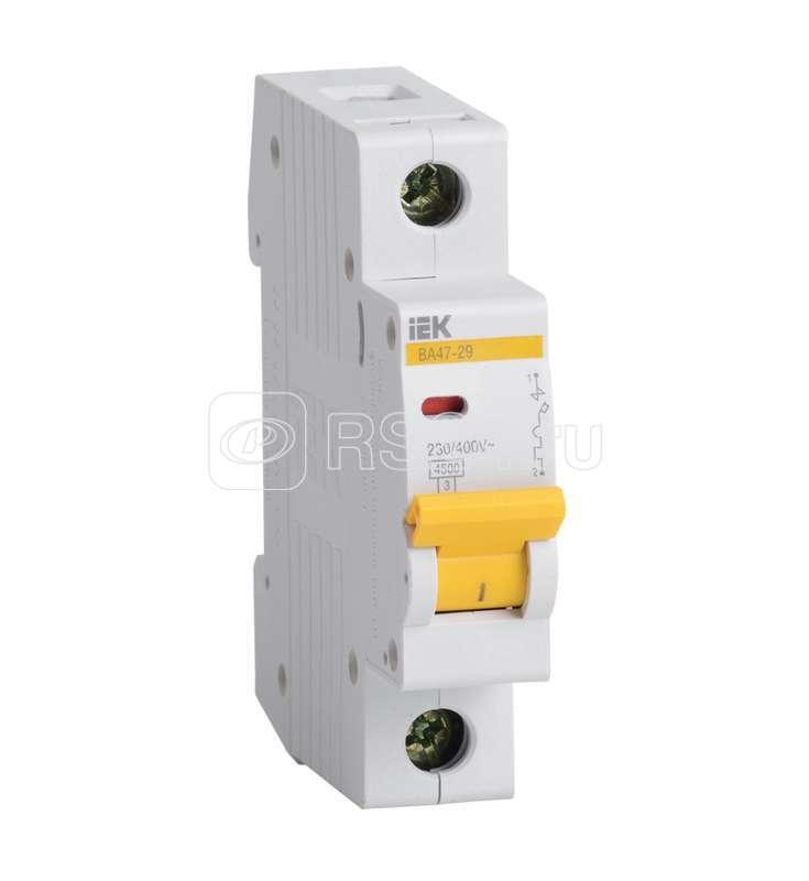 Выключатель автоматический модульный 1п B 50А 4.5кА ВА47-29 ИЭК MVA20-1-050-B купить в интернет-магазине RS24