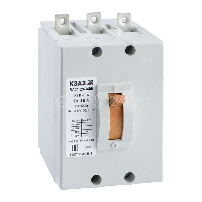 Выключатель авт. ВА21-29В-340010 63А 6Iн 690AC У3 АЭС КЭАЗ 102180 купить в интернет-магазине RS24