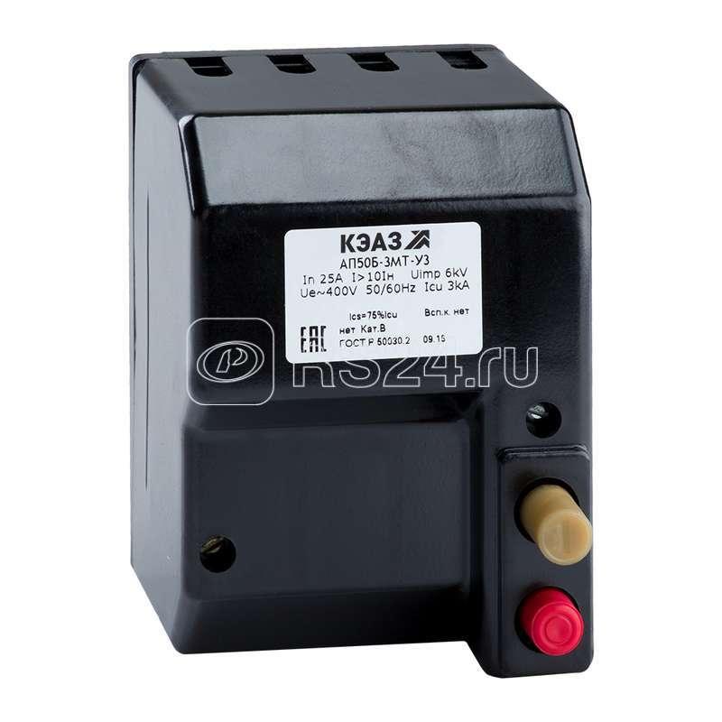 Выключатель автоматический 63А 3.5Iн АП50Б 3МТ У3 400В AC доп. контакты 1п КЭАЗ 107428 купить в интернет-магазине RS24