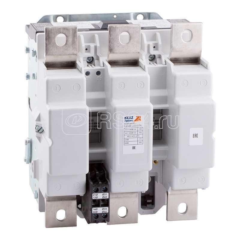 Контактор OptiStart K3 700A22 230AC/DC КЭАЗ 117560 купить в интернет-магазине RS24