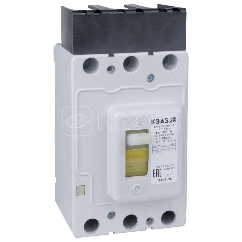 Выключатель автоматический ВА57-35-341810 125А 1250 690AC НР24DC УХЛ3 КЭАЗ 256264 купить в интернет-магазине RS24