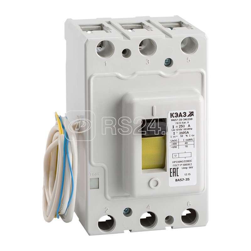 Выключатель автоматический ВА57-35-341810 40А 160 690AC НР24DC УХЛ3 КЭАЗ 242183 купить в интернет-магазине RS24