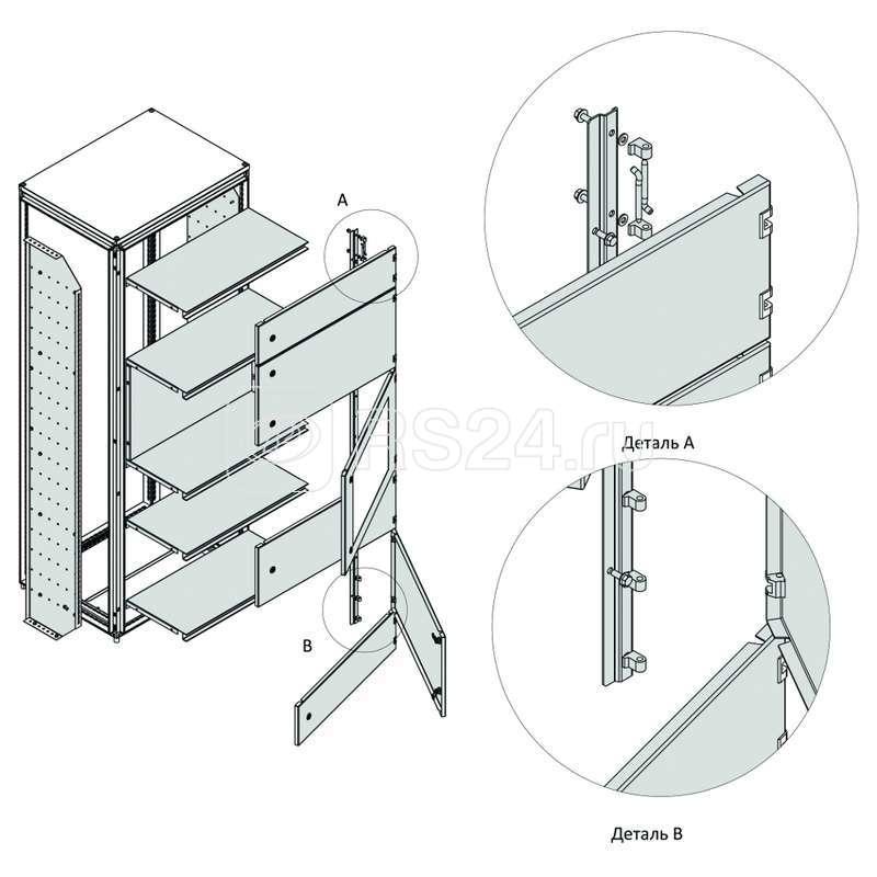 Разделитель вертикальный внешней модульной системы OptiBox M-2200х400 (уп.2шт) КЭАЗ 259239 купить в интернет-магазине RS24