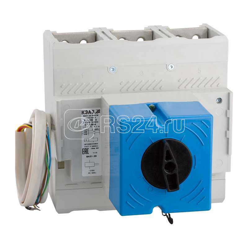Выключатель автоматический 320А 3200Im ВА51-39-344630 УХЛ3 690В AC ПЭ230AC КЭАЗ 221044 купить в интернет-магазине RS24