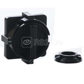 Рукоятка квадратная на дверцу шкафа черн. с кольцом OptiSwitch D L1/L2/L3; D LC1/LC2 КЭАЗ 145890