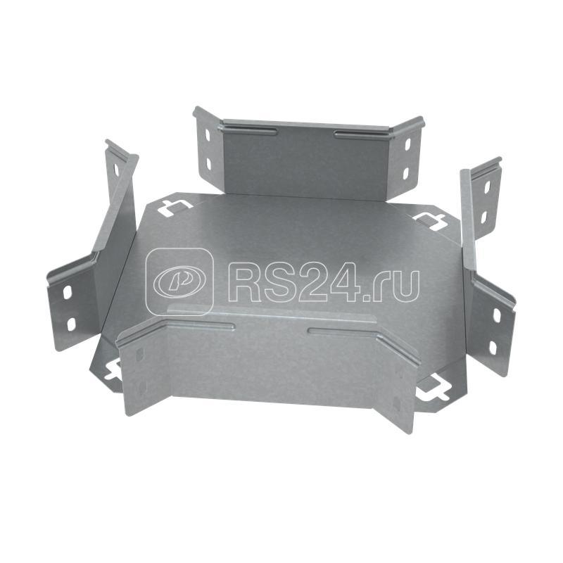 Ответвитель для лотка Х-образ. 100х80 сталь 1.0мм ПЛЮС XDplus80-100 КМ PL0609 купить в интернет-магазине RS24