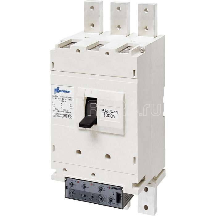 Выключатель автоматический 3п 1000А 33.5кА ВА53-41-344615-20 УХЛ3 660В Контактор 1033342 купить в интернет-магазине RS24