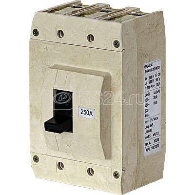Выключатель автоматический 3п 250А Im=1250А ВА04-36-340010-20 УХЛ3 660В Контактор 1032709 купить в интернет-магазине RS24
