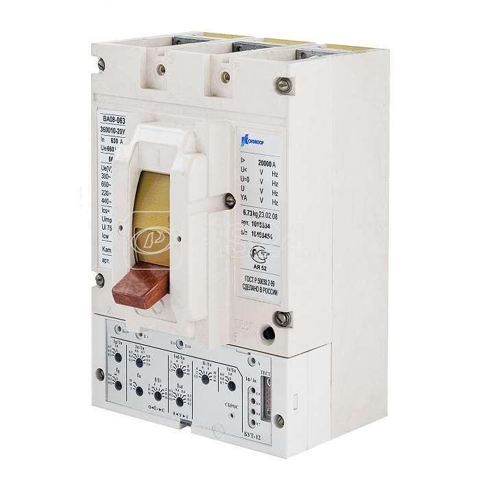 Выключатель автоматический 3п 400А ВА08-0405Н-350010-20 УХЛ3 660В короткие вывода Контактор 1039480 купить в интернет-магазине RS24