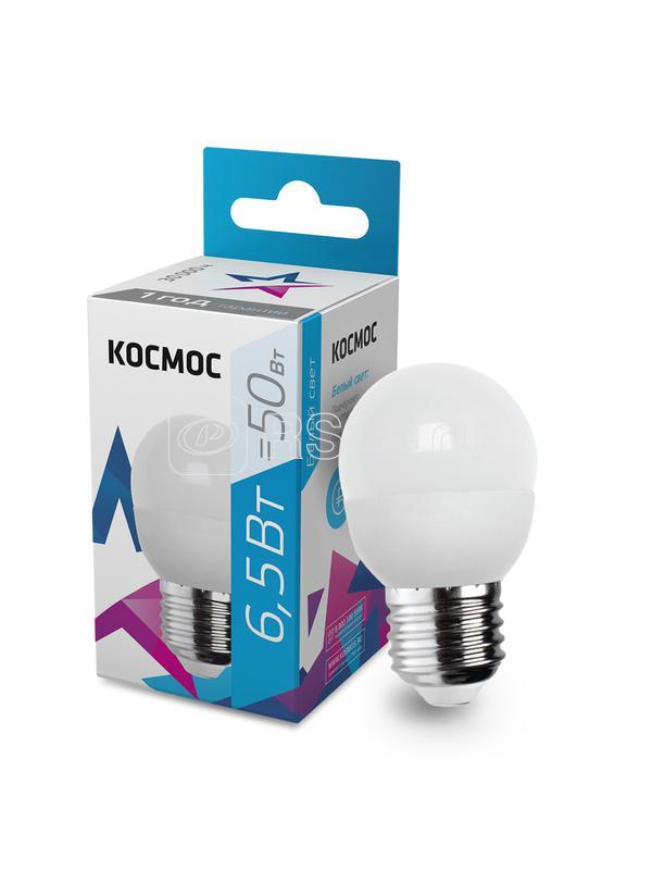 Лампа светодиодная GL45 6.5Вт 220В E27 4500К Космос LkecLED6.5wGL45E2745 купить в интернет-магазине RS24