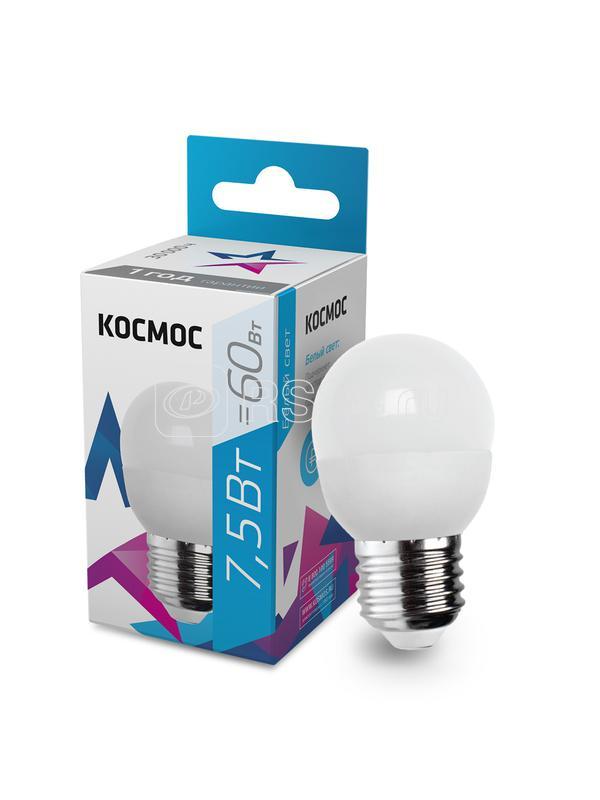 Лампа светодиодная GL45 7.5Вт 220В E27 4500К Космос LkecLED7.5wGL45E2745