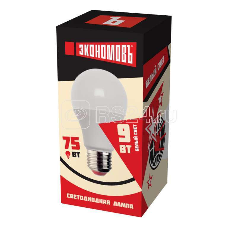 Лампа светодиодная А60 9Вт грушевидная 4500К белый E27 850лм 240В ЭКОНОМОВЪ Ecof_LED9wA60E2745 купить в интернет-магазине RS24