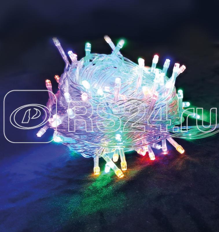 Гирлянда светодиодная 100LED бел. прозр. провод 6.5м расстояние между лампами 6см 8 режимов мигания Космос KOC_GIR100LED_RGB_7m купить в интернет-магазине RS24
