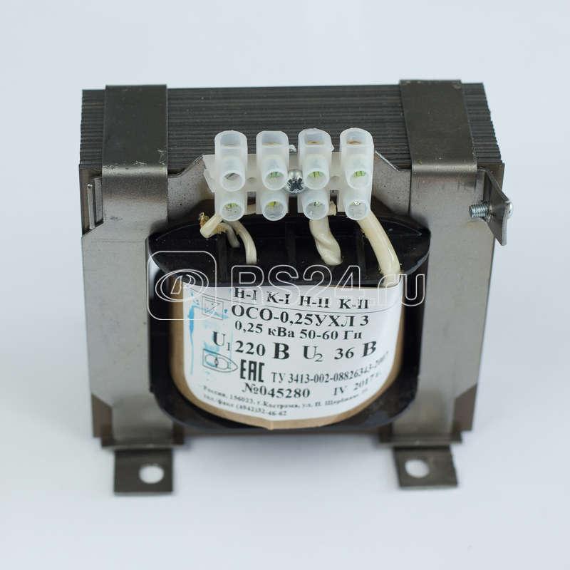 Трансформатор ОСО-0.25-09 380/12-24-36-42-110В УХЛ3 Кострома ОС0000002228 купить в интернет-магазине RS24