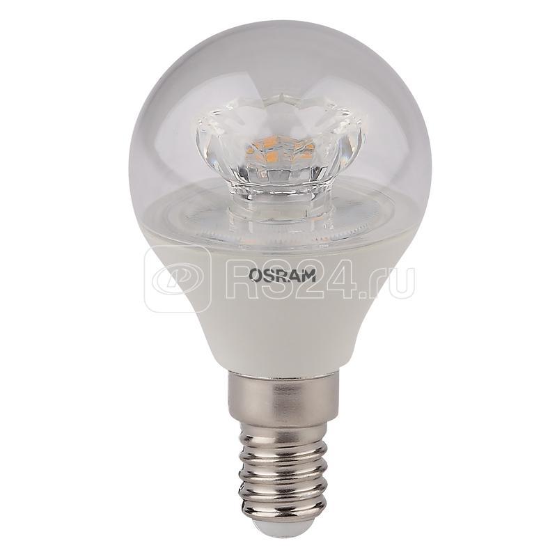 Лампа светодиодная LED STAR CLASSIC P 40 5.4W/830 5.4Вт шар 3000К тепл. бел. E14 470лм 220-240В прозр. пласт. OSRAM 4052899971622