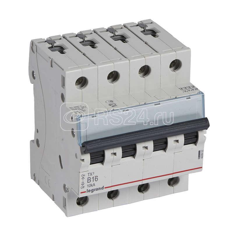 Выключатель автоматический модульный 4п B 16А 6000/10кА TX3 Leg 403902 купить в интернет-магазине RS24
