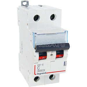Выключатель автоматический модульный 2п C 2А 6000/6кА DX3-E Leg 407271 купить в интернет-магазине RS24