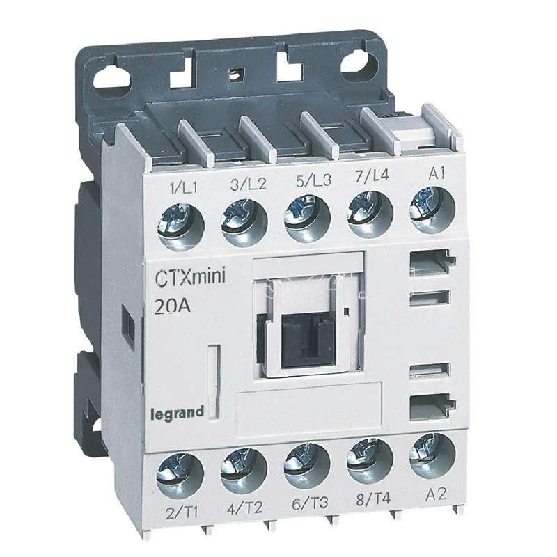 Контактор CTX-3 CT 4НО 16A~110Вмини Leg 417144 купить в интернет-магазине RS24