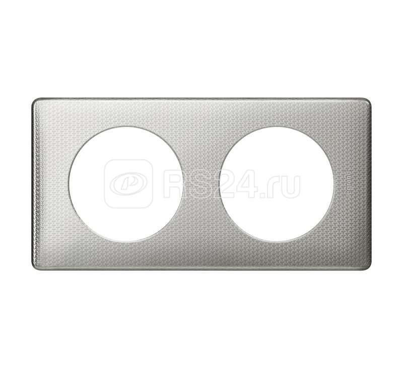 Рамка 2-м Celiane серебр. пунктум Leg 068722 купить в интернет-магазине RS24