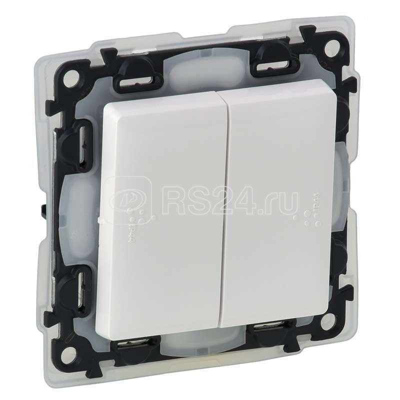 Механизм выключателя 2-кл. СП Valena Life 10А IP44 250В с лицевой панелью; безвинтовые зажимы Leg 752155 купить в интернет-магазине RS24