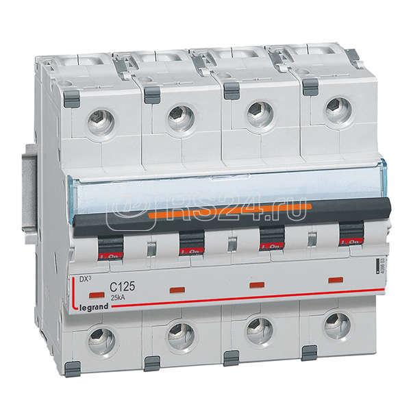 Выключатель автоматический модульный 4п C 125А 25кА DX3 Leg 409803 купить в интернет-магазине RS24