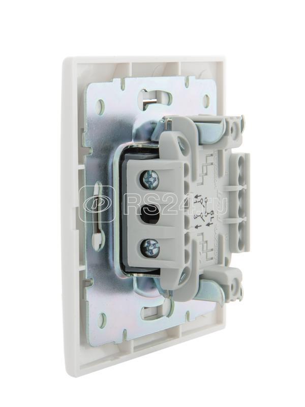 Выключатель кнопочный 1-кл. СП Мира бел/бел. Lezard 701-0202-103 купить в интернет-магазине RS24