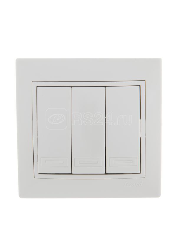 Выключатель 3-кл. СП Мира 10А IP20 бел./бел. LEZARD 701-0202-109
