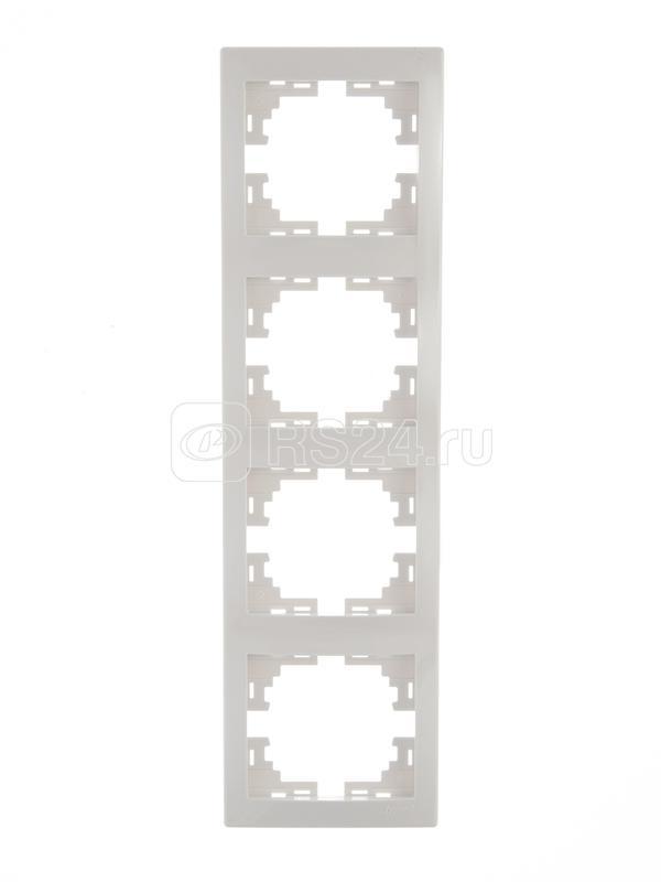 Рамка 4-м Мира верт. бел. Lezard 701-0200-154