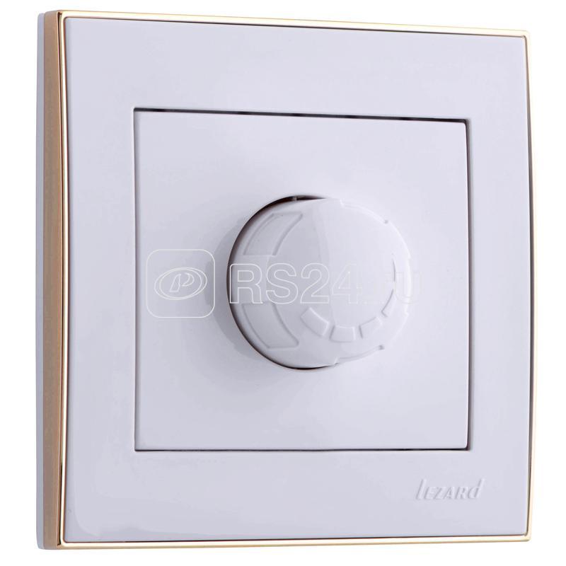 Светорегулятор СП 800Вт Рейн бел. с боковой вст. зол. Lezard 703-0226-115 купить в интернет-магазине RS24