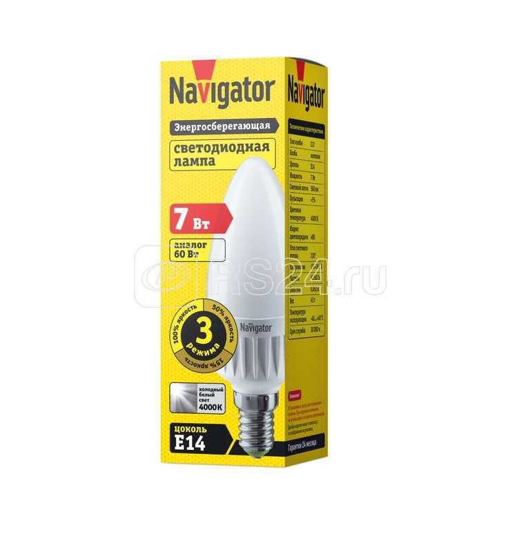 Лампа светодиодная 61 652 NLL-C37-7-230-4K-E14-3STEPDIMM Navigator 61652 купить в интернет-магазине RS24