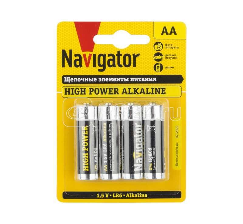 Элемент питания алкалиновый 94 753 NBT-NE-LR6-BP4 (блист.4шт) Navigator 94753