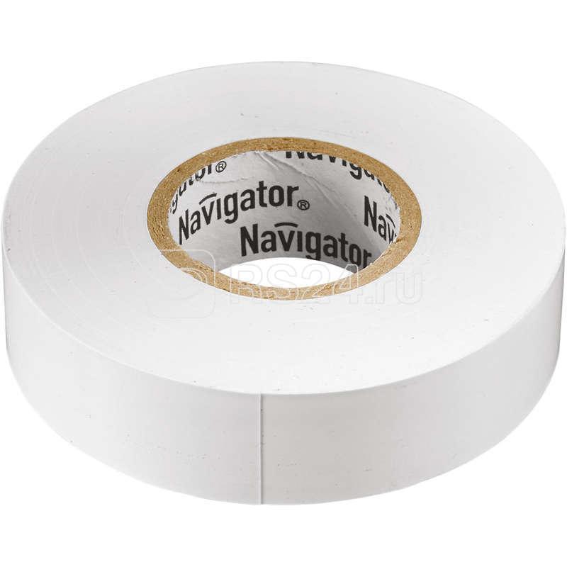 Изолента ПВХ 19мм (рул.20м) бел. NIT-A19-20/WH Navigator 71109