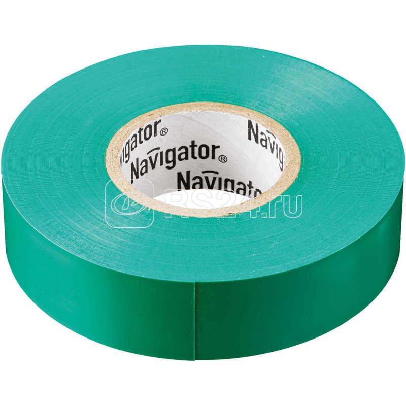 Изолента ПВХ 19мм (рул.20м) зел. NIT-A19-20/G Navigator 71113