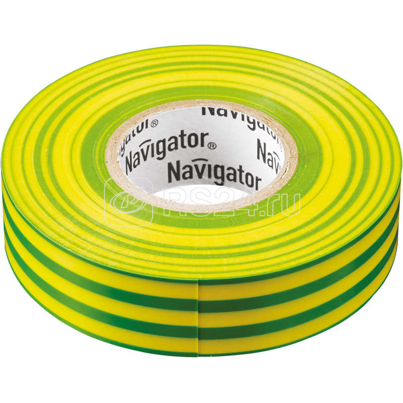 Изолента ПВХ 19мм (рул.20м) жел/зел. NIT-A19-20/YG Navigator 71115