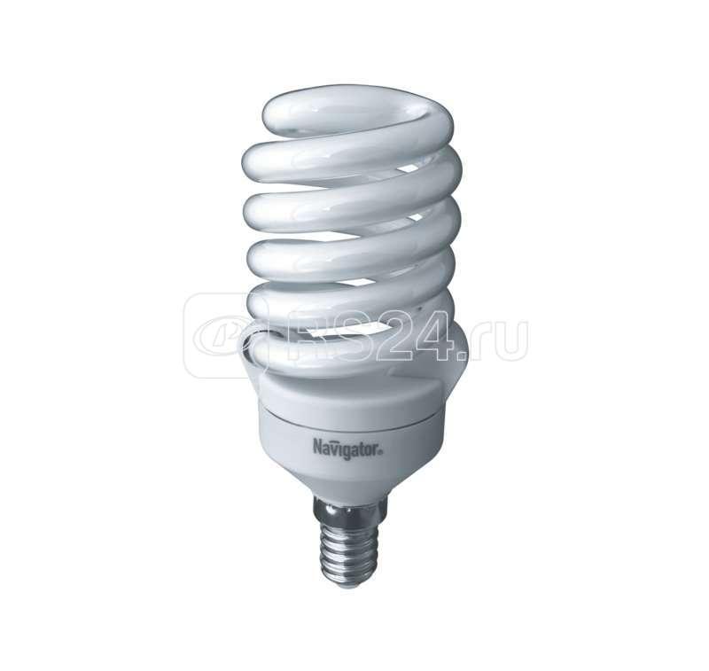 Лампа люминесцентная компакт. 94 297 NCL-SF10-20-827-E14 20Вт E14 спиральная 2700К Navigator 94297 купить в интернет-магазине RS24