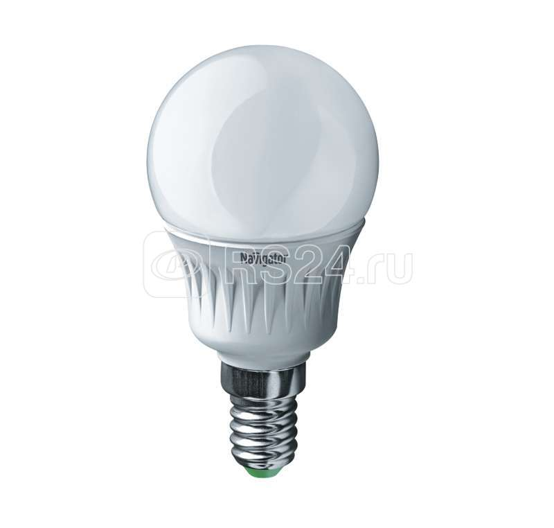 Лампа светодиодная 94 476 NLL-P-G45-5-230-2.7K-E14 5Вт шар 2700К тепл. бел. E14 330лм 220-240В Navigator 94476