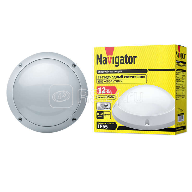 Светильник 61 634 NBL-PR1-12-4K-12/48-WH-IP65-LED (низковольтный) Navigator 61634 купить в интернет-магазине RS24